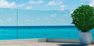 Barandilla vidrio terraza