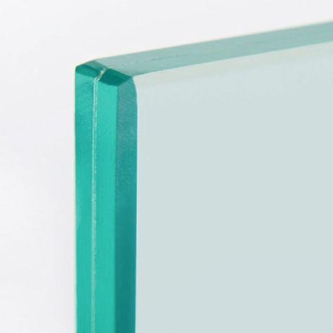 Barandilla de vidrio cantos pulidos