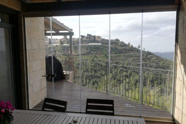 Cortina de vidrio plegable terraza