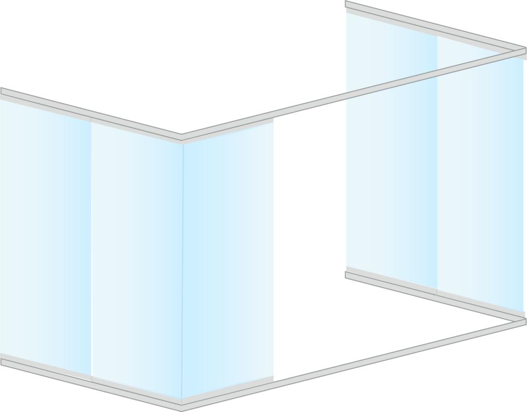 Cortina vidrio sin perfiles