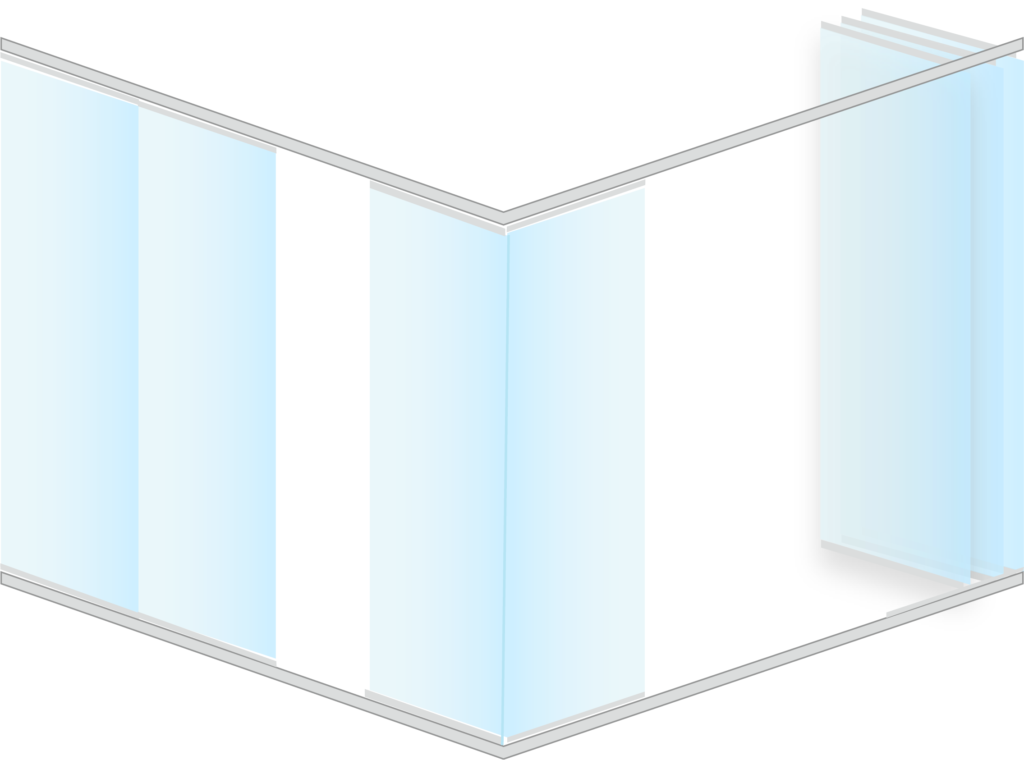 Cortina cristal forma L