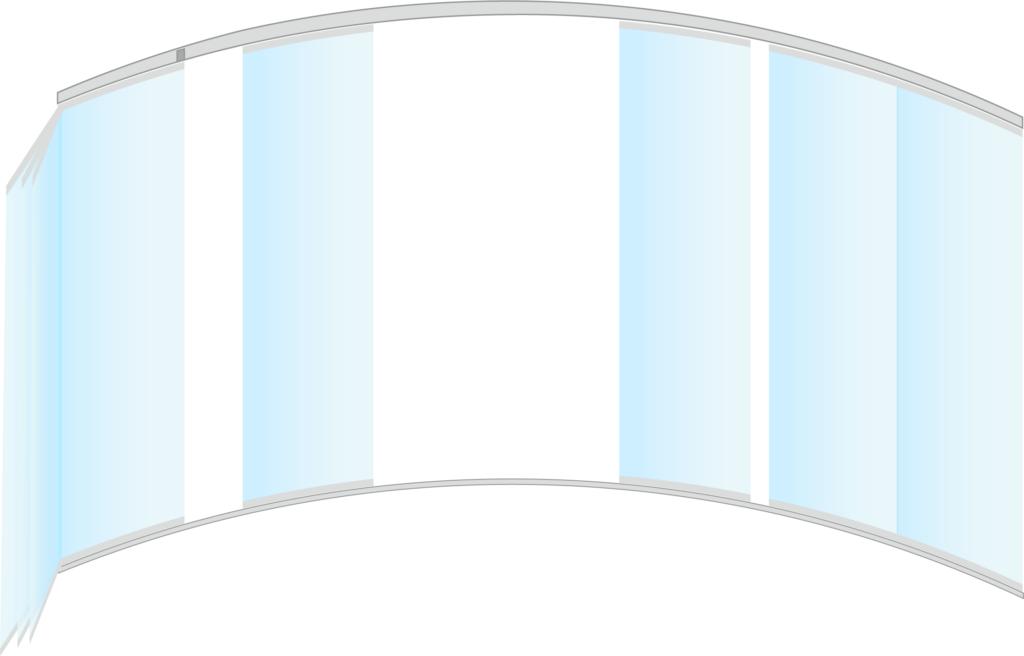 Cortina de cristal poligonal